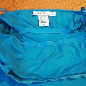 Versailles Tops - Teal Camisole
